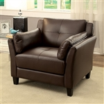 Pierre Chair in Brown by Furniture of America - FOA-CM6717BR-CH