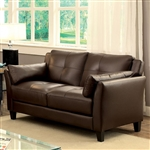 Pierre Love Seat in Brown by Furniture of America - FOA-CM6717BR-LV