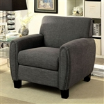 Liana Chair in Gray by Furniture of America - FOA-CM6792-CH
