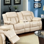 Barbado Recliner Love Seat in Ivory by Furniture of America - FOA-CM6827-LV
