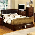 Enrico III Bed by Furniture of America - FOA-CM7066-B