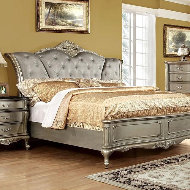 Johara bed by furniture of america foa cm7090 b for Vs furniture america