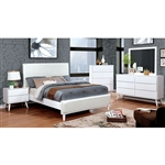 Lennart II Bed by Furniture of America - FOA-CM7387WH-B