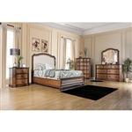 Emmaline 6 Piece Fabric Upholstered Bedroom Set by Furniture of America - FOA-CM7831F