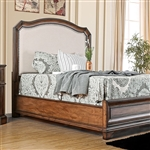 Emmaline Fabric Upholstered  Bed by Furniture of America - FOA-CM7831F-B