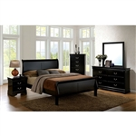 Louis Philippe III 6 Piece Bedroom Set by Furniture of America - FOA-CM7866BK