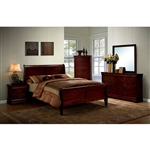 Louis Philippe III 6 Piece Bedroom Set by Furniture of America - FOA-CM7866CH
