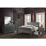 Louis Philippe III 6 Piece Bedroom Set by Furniture of America - FOA-CM7866GY