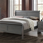 Louis Philippe III Bed by Furniture of America - FOA-CM7866GY-B