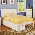 Caren Bed by Furniture of America - FOA-CM7902WH-B