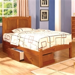 Cara Bed by Furniture of America - FOA-CM7903OAK-B