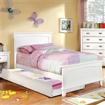 Colin Bed by Furniture of America - FOA-CM7909WH-B