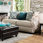 Arklow Love Seat in Beige by Furniture of America - FOA-SM1242-LV