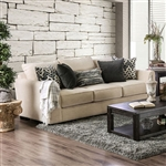 Durand Sofa in Ivory by Furniture of America - FOA-SM1274-SF