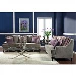 Viscontti 2 Piece Sofa Set in Vintage Taupe by Furniture of America - FOA-SM2202
