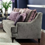 Viscontti Love Seat in Vintage Taupe by Furniture of America - FOA-SM2202-LV