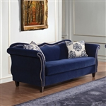Zaffiro Sofa in Royal Blue by Furniture of America - FOA-SM2231-SF