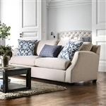 Beltran Sofa in Blue and  Beige by Furniture of America - FOA-SM3057-SF