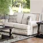 Osvaldo Love Seat in Ivory by Furniture of America - FOA-SM5188-LV