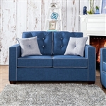 Ravel I Love Seat in Blue by Furniture of America - FOA-SM8802-LV
