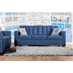 Ravel I Sofa in Blue by Furniture of America - FOA-SM8802-SF