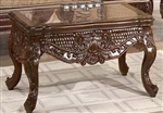 Classic Victorian Carved 3 Piece Occasional Table Set by Homey Design - HD-1064