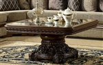 Square Walnut 3 Piece Occasional Table Set by Homey Design - HD-1122
