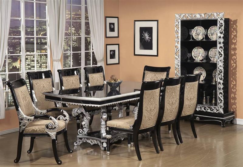 . Castilla Trestle Table 7 Piece Dining Set by Homey Design HD 196