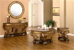 Traditional Walnut 3 Piece Occasional Table Set by Homey Design - HD-2112