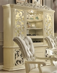 Antique White Bonded Finish China Cabinet by Homey Design - HD-27-CB
