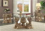 Traditional Victorian Wood 3 Piece Occasional Table Set by Homey Design - HD-7012-OT