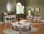 Traditional Silver Wood 3 Piece Occasional Table Set by Homey Design - HD-8001