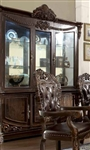 Traditional Chocolate Brown Finish China Cabinet by Homey Design - HD-8006-CB