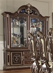 Classic Dark Cherry Finish China Cabinet by Homey Design - HD-8013-CB