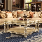 Victorian Ivory Finish 3 Piece Occasional Table Set by Homey Design - HD-8015-OT
