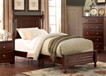 Morelle Twin Bed in Cherry by Home Elegance - HEL-1356TC-1