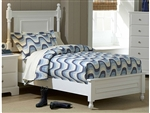Morelle Twin Bed in White by Home Elegance - HEL-1356TW-1