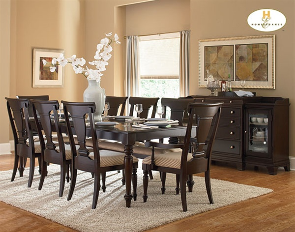 Inglewood 7 Piece Dining Set In Deep Cherry Finish By Homelegance   1402 84