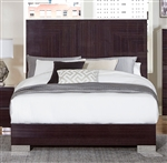 Moritz Queen Bed in Chrome by Home Elegance - HEL-1706-1