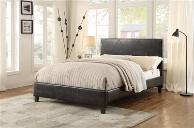 Deleon Queen Bed in Dark Brown by Home Elegance - HEL-1881PU-1