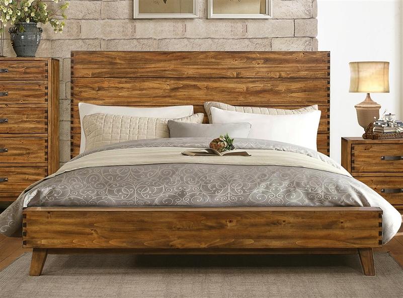 Sorrel 6 piece bedroom set in rustic by home elegance - Rustic elegant bedroom furniture ...