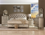 Tandie 6 Piece Bedroom Set in Champagne by Home Elegance - HEL-1933-1-4