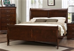 Mayville Queen Sleigh Bed in Burnish Brown Cherry by Home Elegance - HEL-2147-1