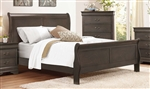 Mayville Queen Sleigh Bed in Stained Grey by Home Elegance - HEL-2147SG-1