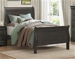 Mayville Twin Sleigh Bed in Stained Grey by Home Elegance - HEL-2147TSG-1