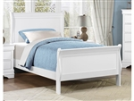 Mayville Twin Sleigh Bed in White by Home Elegance - HEL-2147TW-1