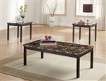 Tempe 3 Piece Occasional Table Set in Black by Home Elegance - HEL-2601-31-3PK