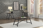 Damsel 3 Piece Occasional Table Set in Dark Burnish by Home Elegance - HEL-3619-31-3PK