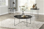 Perivale 3 Piece Occasional Table Set in Silver by Home Elegance - HEL-3623-31-3PK