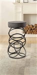 Yara Pub Height Stool in Black by Home Elegance - HEL-4508-PH